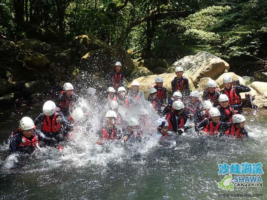 沙蛙溯溪-老梅溪-其中之一景-Shawa Canyoning & River Tracing Taiwan