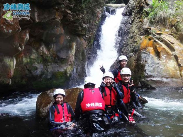 沙蛙溯溪-老梅溪-老梅瀑布1-Shawa Canyoning & River Tracing Taiwan