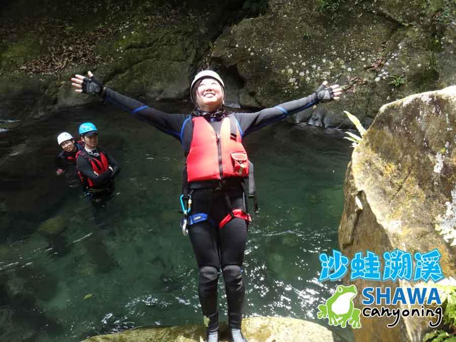 新竹梅花溪-沙蛙溯溪-後倒-SHAWA CANYONING TAIWAN Mei-Hua river tracing