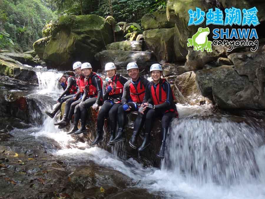 新竹梅花溪-沙蛙溯溪-必拍團體照1-SHAWA CANYONING TAIWAN Mei-Hua river tracing