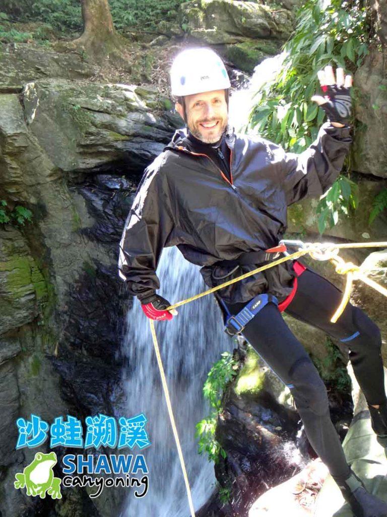 新竹梅花溪-沙蛙溯溪-瀑布垂降1-SHAWA CANYONING-Mei-Hua river tracing