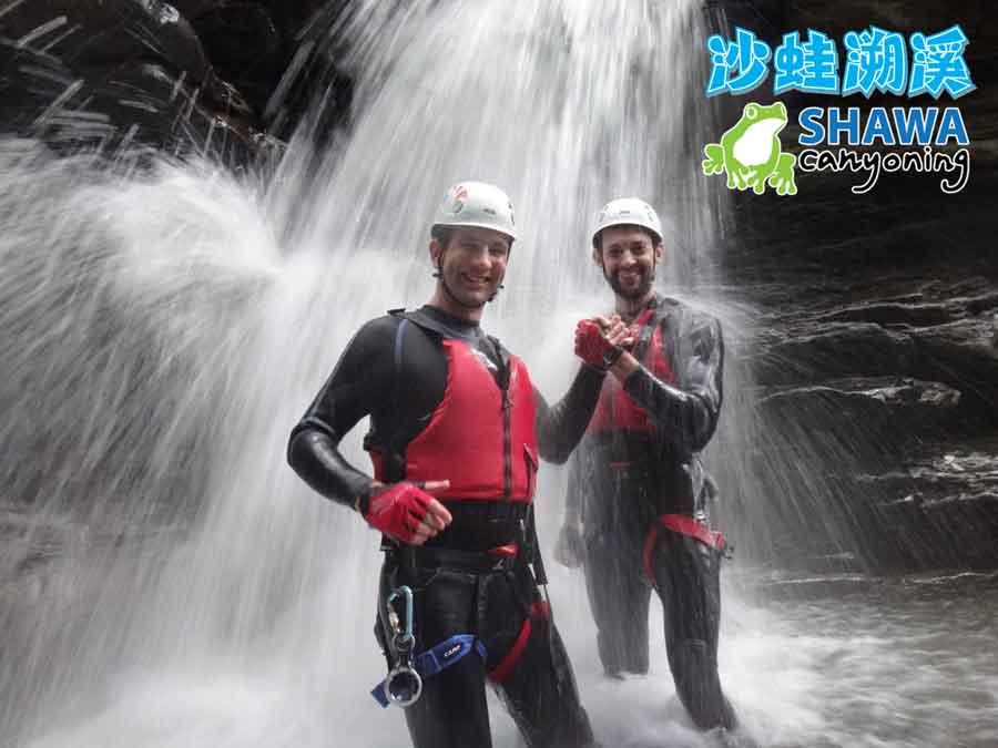 新竹梅花溪-沙蛙溯溪-穿瀑前2-SHAWA CANYONING TAIWAN Mei-Hua river tracing
