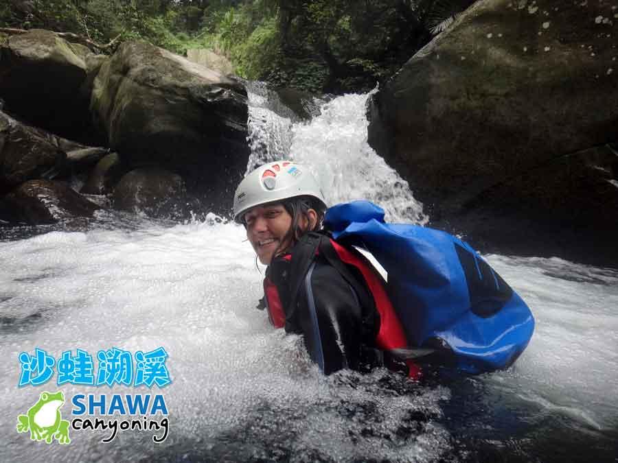 新竹梅花溪-沙蛙溯溪-第三關-SHAWA CANYONING TAIWAN Mei-Hua river tracing