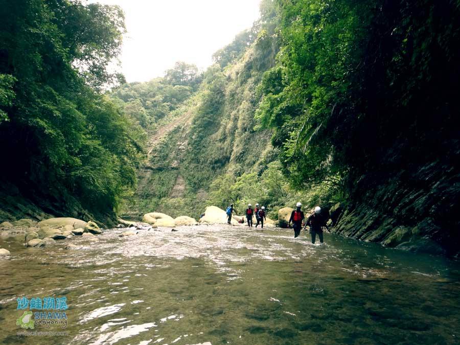苗栗南庄風美溪溯溪3-沙蛙溯溪-Shawa Canyoning Taiwan-Fone-Mei river tracing
