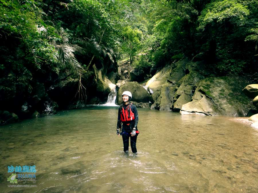 苗栗南庄風美溪溯溪5-沙蛙溯溪-Shawa Canyoning Taiwan-Fone-Mei river tracing