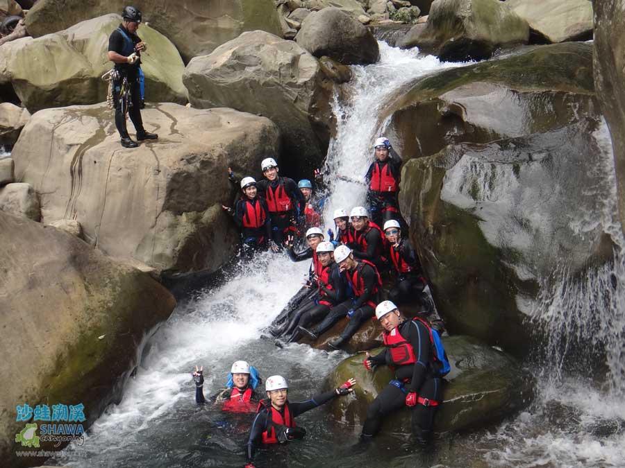 苗栗南庄風美溪溯溪6-沙蛙溯溪-Shawa Canyoning Taiwan-Fone-Mei river tracing