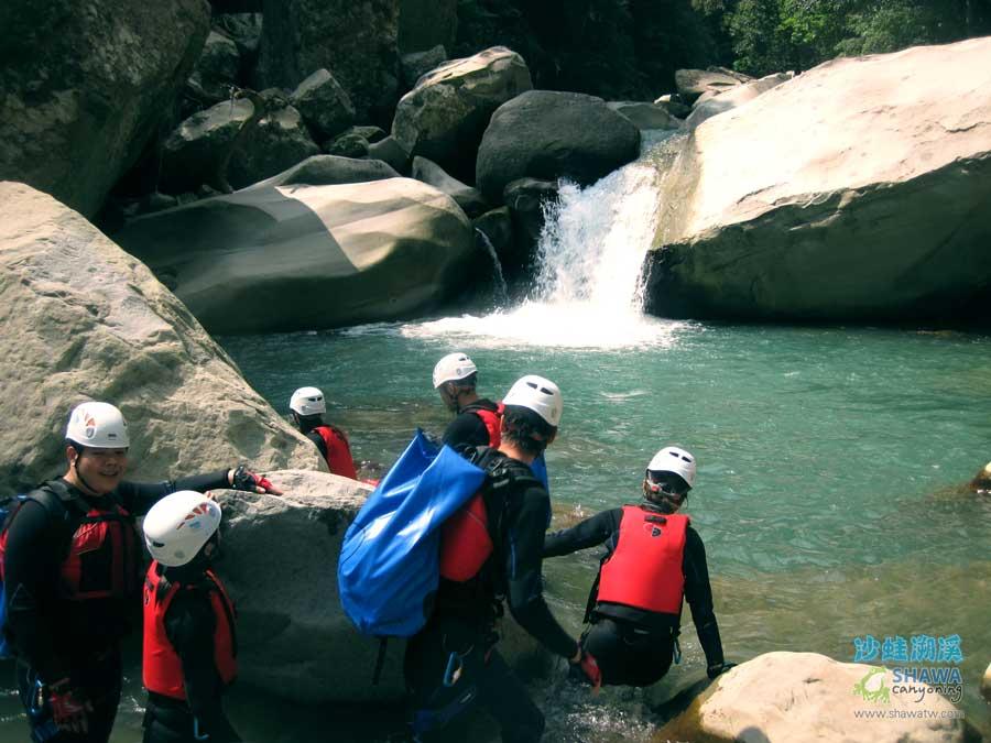 苗栗南庄風美溪溯溪7-沙蛙溯溪-Shawa Canyoning Taiwan-Fone-Mei river tracing