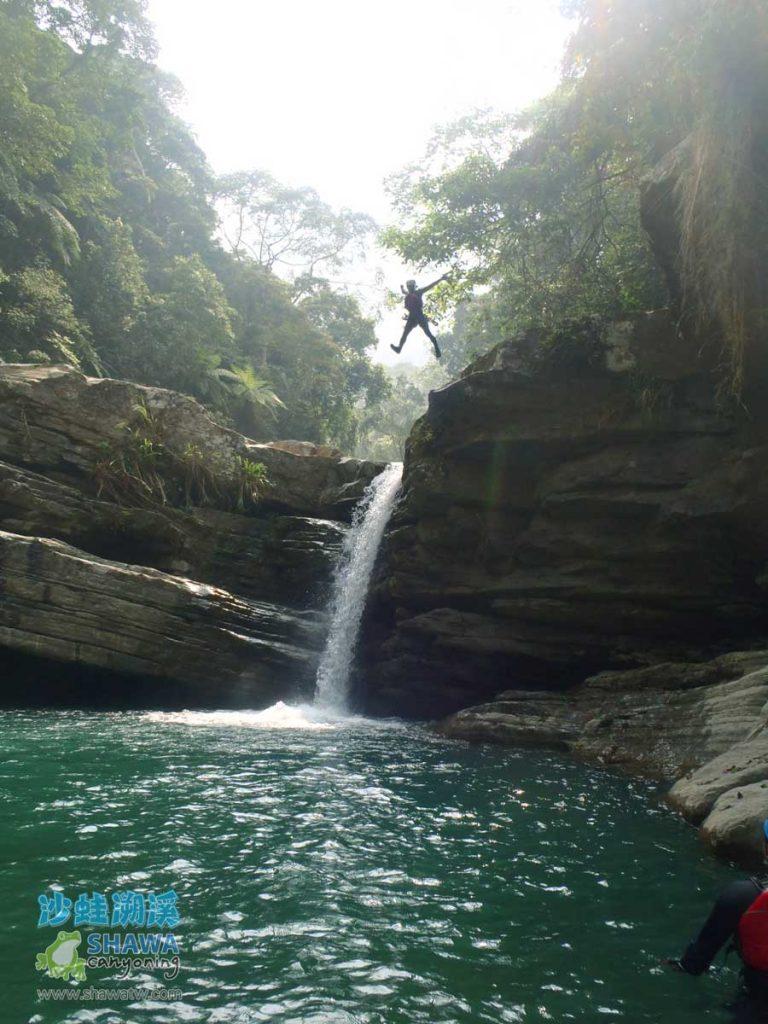 苗栗南庄風美溪溯溪9-沙蛙溯溪-Shawa Canyoning Taiwan-Fone-Mei river tracing